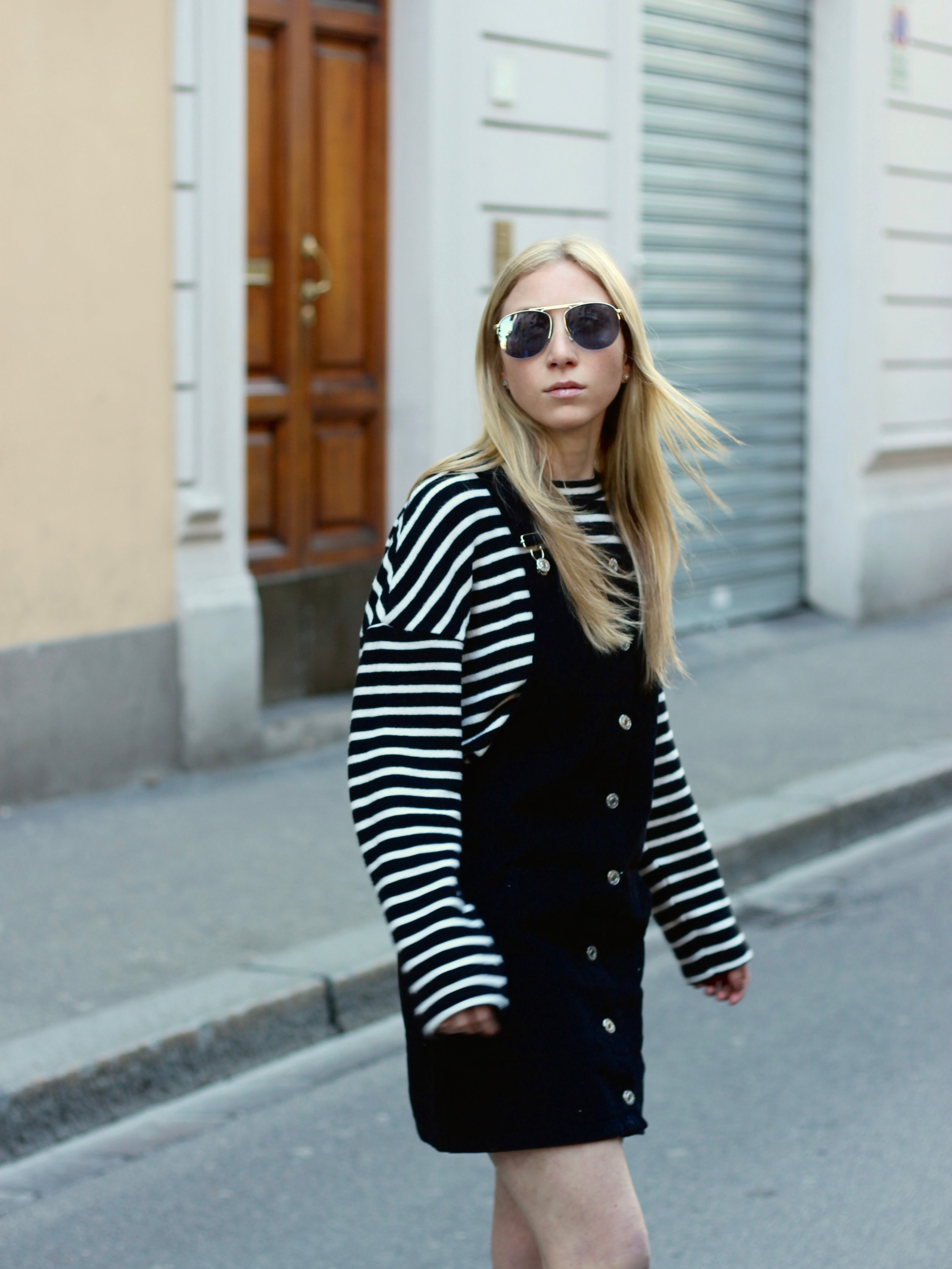 black topshop overall dress by au courant life