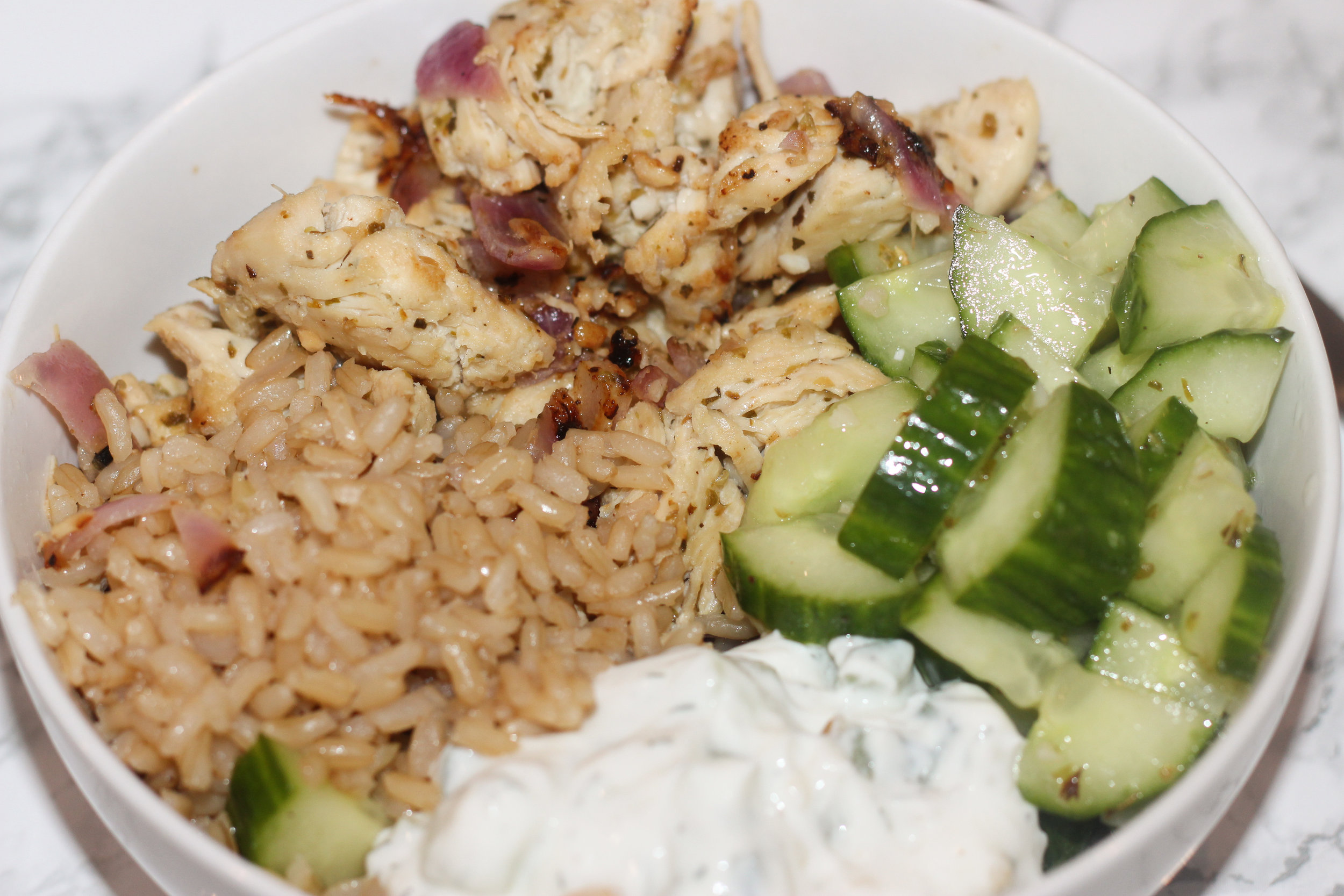 greek chicken bowl recipe easy healthy by au courant life