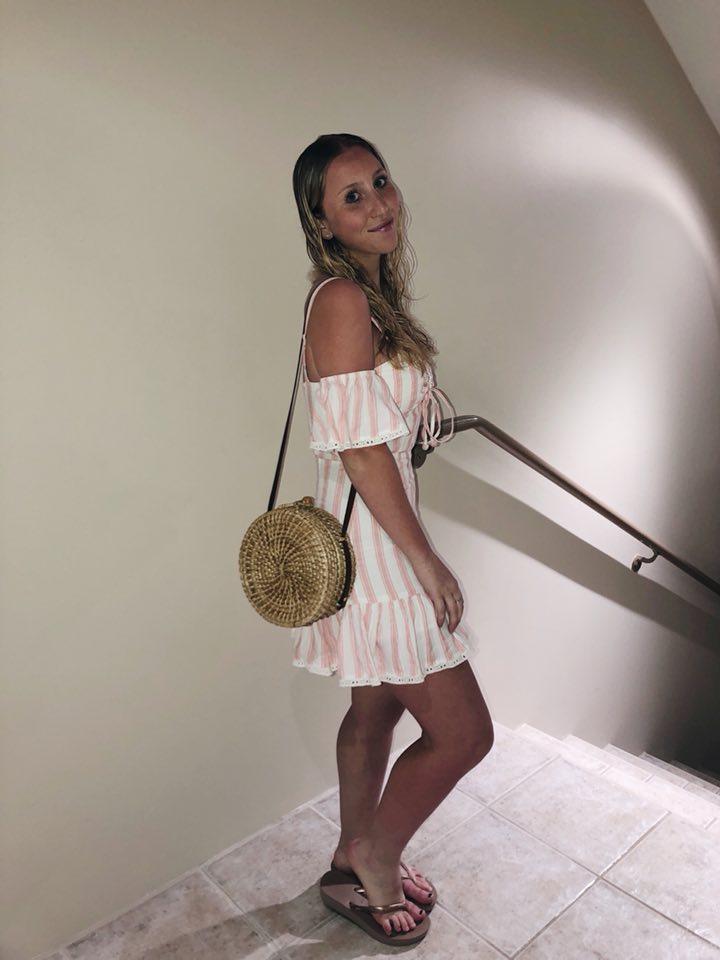 Tularosa Dress | Havianas Flip Flops | Zara Bag