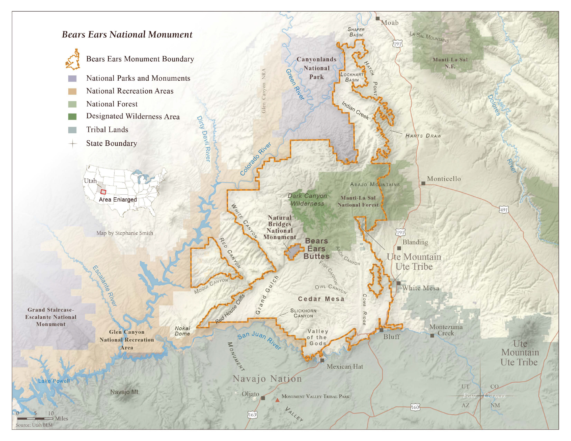 Map courtesy of Grand Canyon Trust.  Learn more at:  http://www.grandcanyontrust.org/bears-ears-cultural-landscape