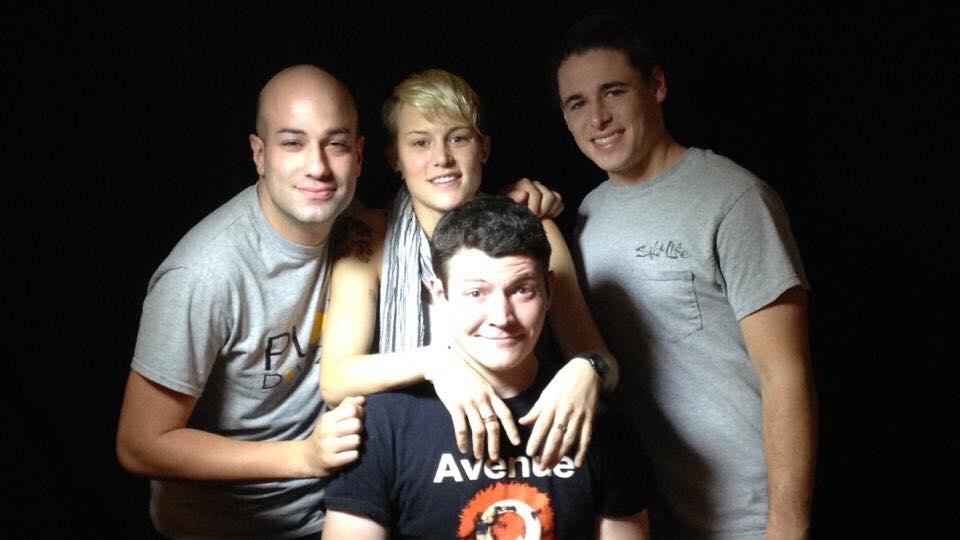Photo provided by Rami Alkadi : ( left to right ) Rami Alkadi, Chris Polite, Anthony Pierre Jr. -Director- and Joey Smith