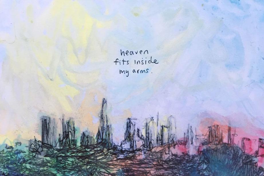 "Heaven Fits Inside My Arms - David Brookton - $5.00 - 4""x6"" Postcard"