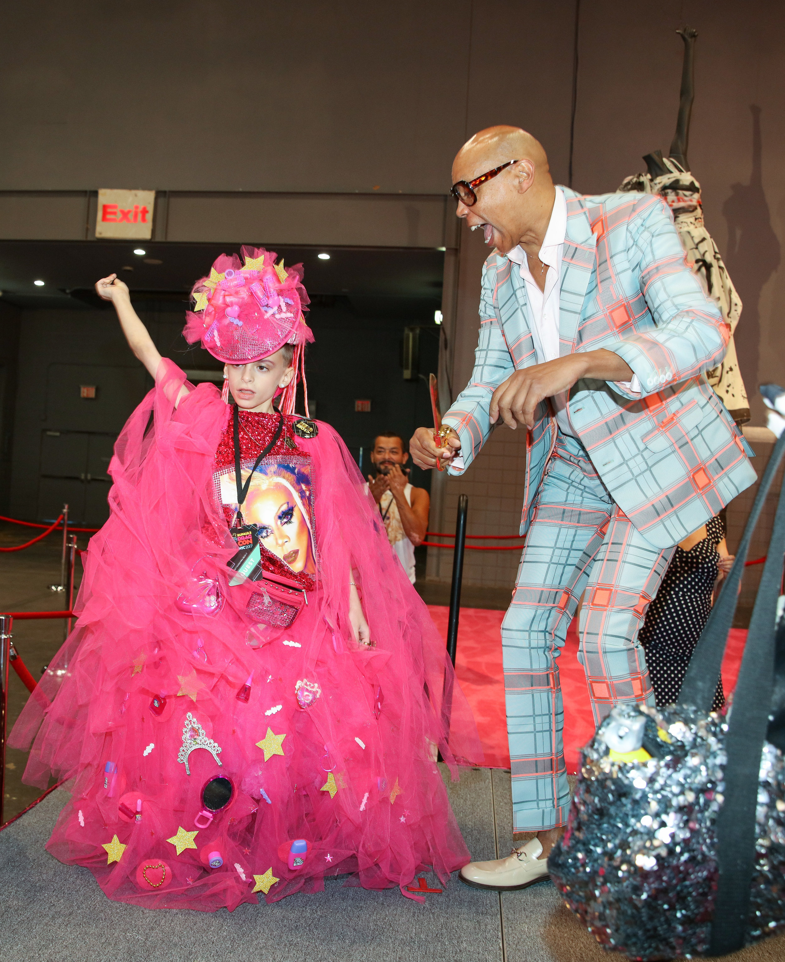10-year-old Drag Queen Desmond is Amazing and RuPaul cut the ribbon to start off RuPaul's DragCon NYC 2017. - Photo provided by World of Wonder