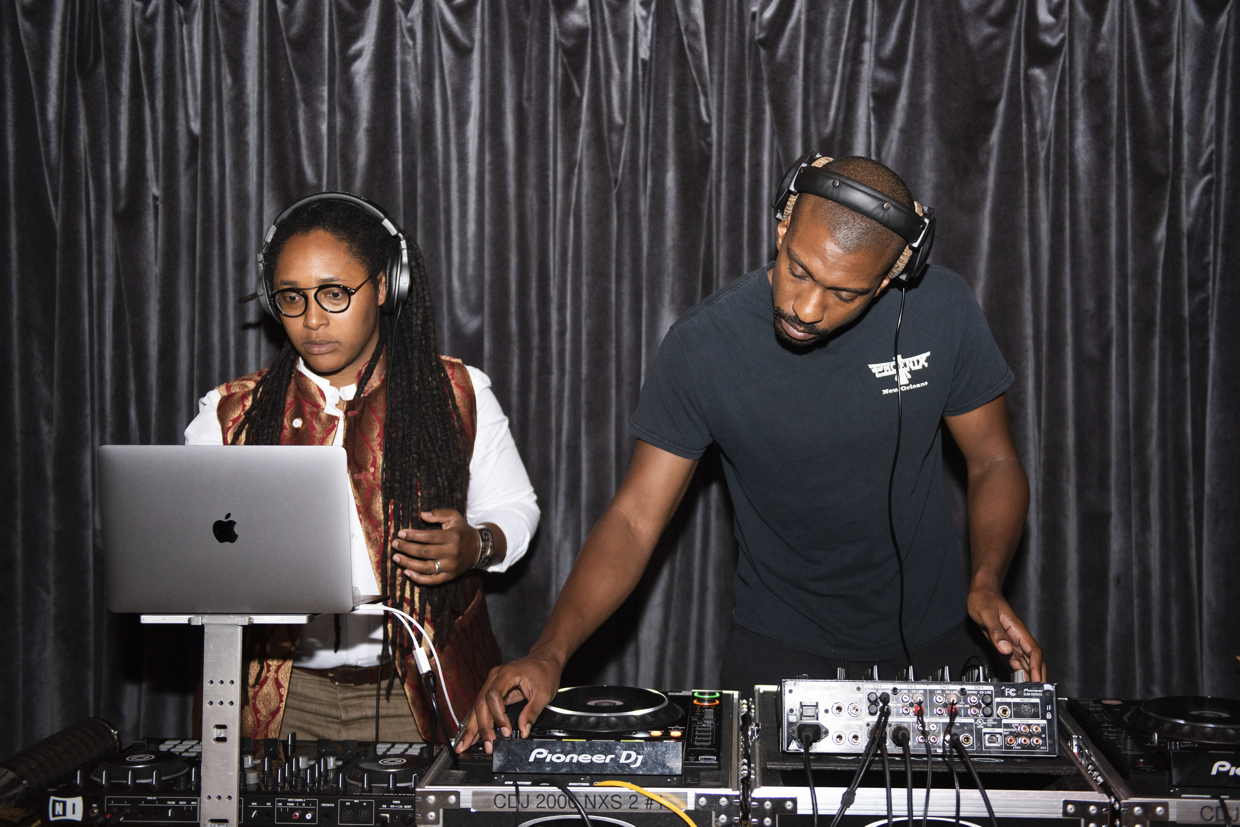 DJ Natty Boom (left) and FIVE (right)