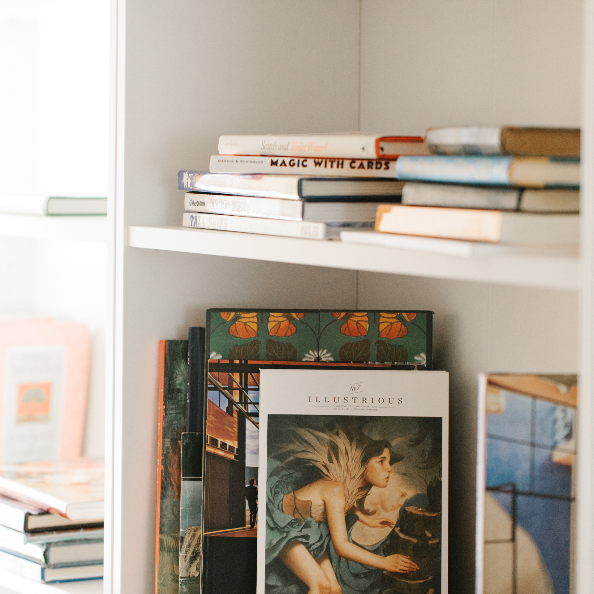 Every guest room is loaded with books. Its like sleeping in a cushy library. Only with fluffy pillows, soft blankets, and a hot breakfast.