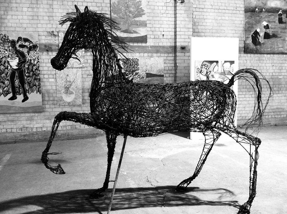 Nihad Dabeet's Healer (2011), iron wire. Photo courtesy Avital Moses