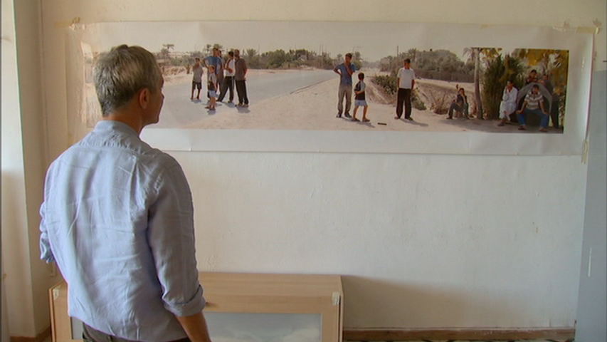 Photographer Barry Frydlender and his work in a still from the film  Out in the World.