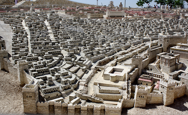 Model of Ancient Jerusalem at the Israel Museum. Photo by Matthew Shugart, courtesy  Creative Commons