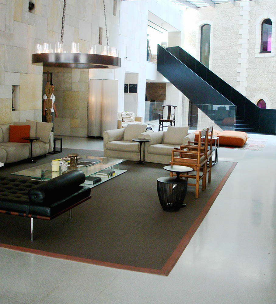 The lobby of the Mamilla Hotel, Jerusalem. Photo © and courtesy Cookie West