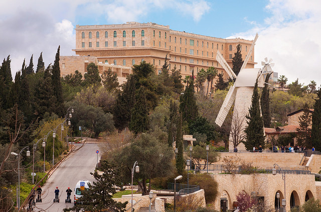 The approach to the King David Hotel. Photo by Noam Chen for the Israeli Ministry of Tourism, courtesy  Creative Commons
