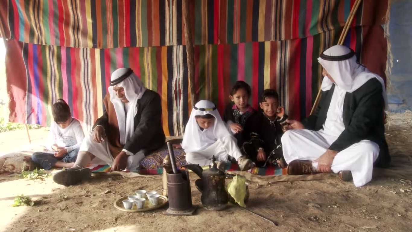 A Bedouin family in a still from the Sustainability Laboratory's short film  Project Wadi Attir.   Photo courtesy Project Wadi Attir