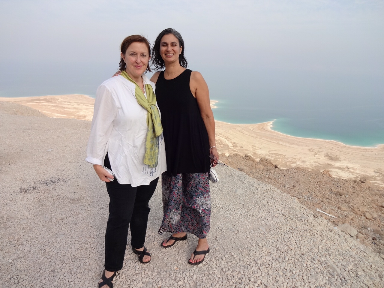 Diana C. Stoll and Michelle Dunn Marsh at the Dead Sea