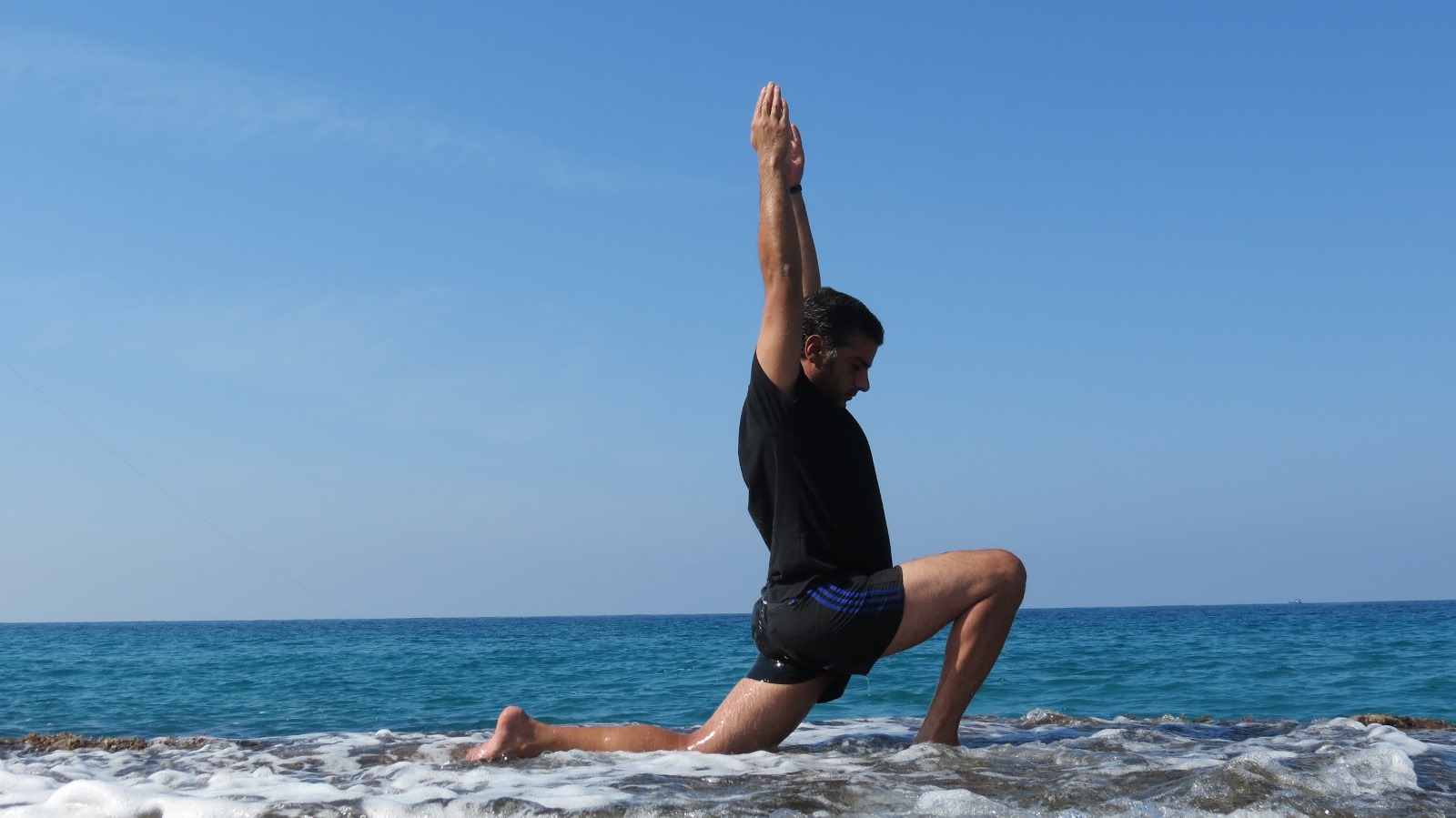Coastal Yoga with Omer Hagai. Photo by Tamar Hagai