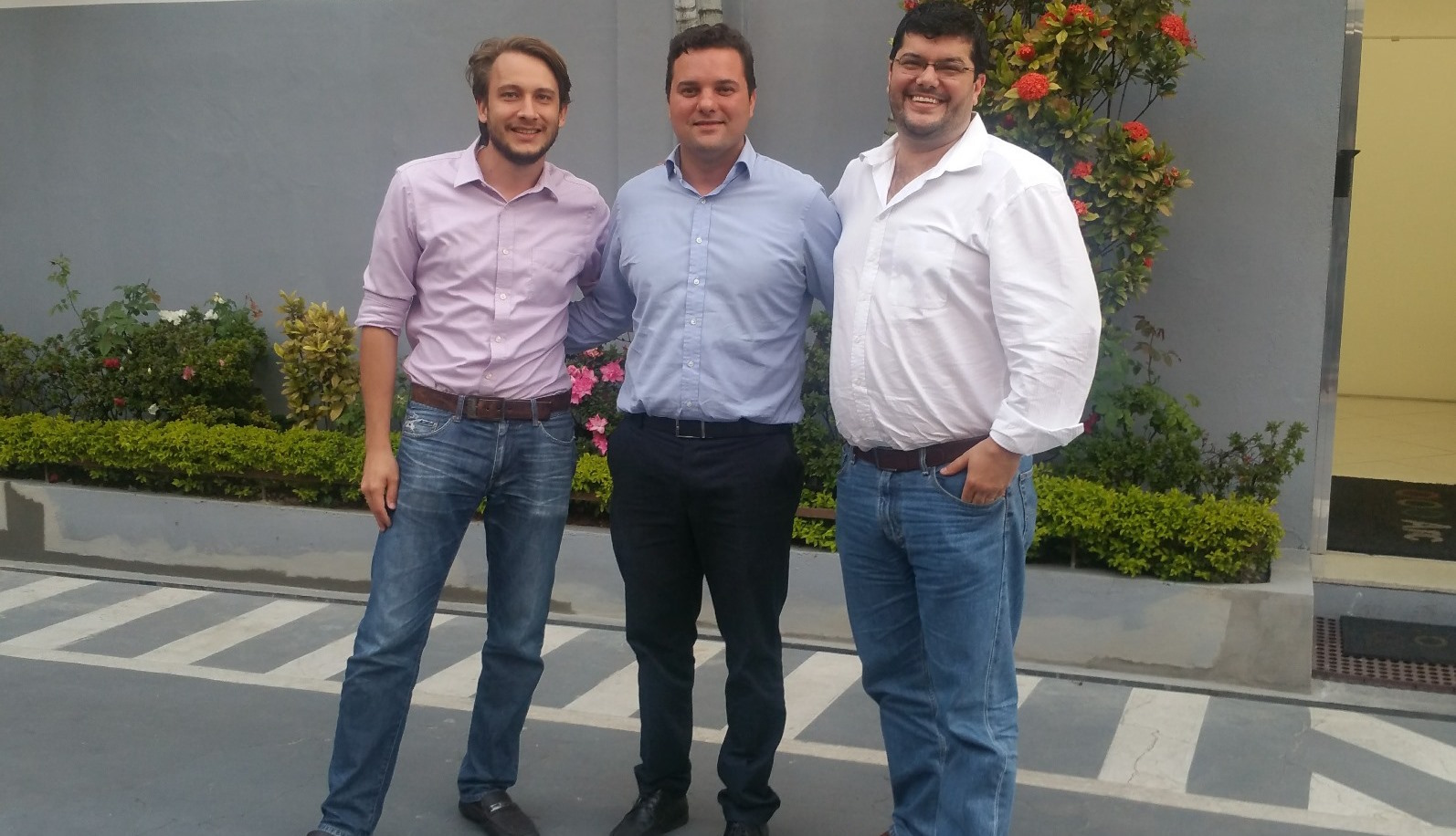 Lodologic's team in Sao Paulo, from left, Gabriel Kainuma, Plinio Pimentel and Ayrton Junior. Photo: courtesy of Lodologic
