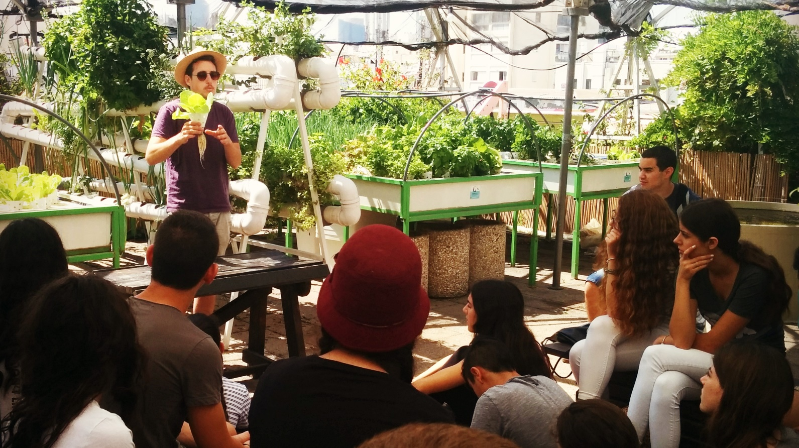 A gardening workshop at Green in the City. Photo by Mendi Falk