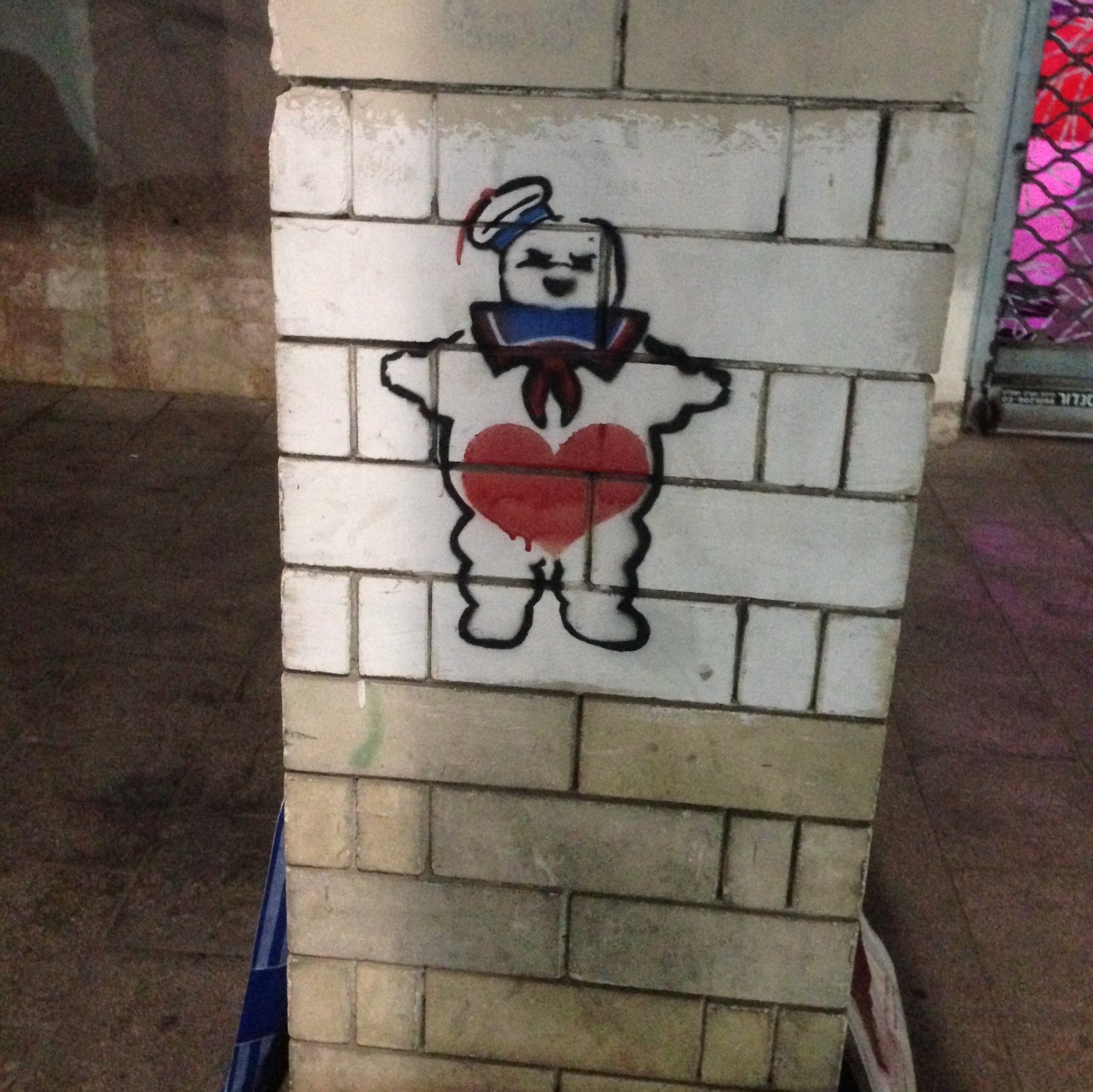 A Staypuff work on the streets of Tel Aviv.