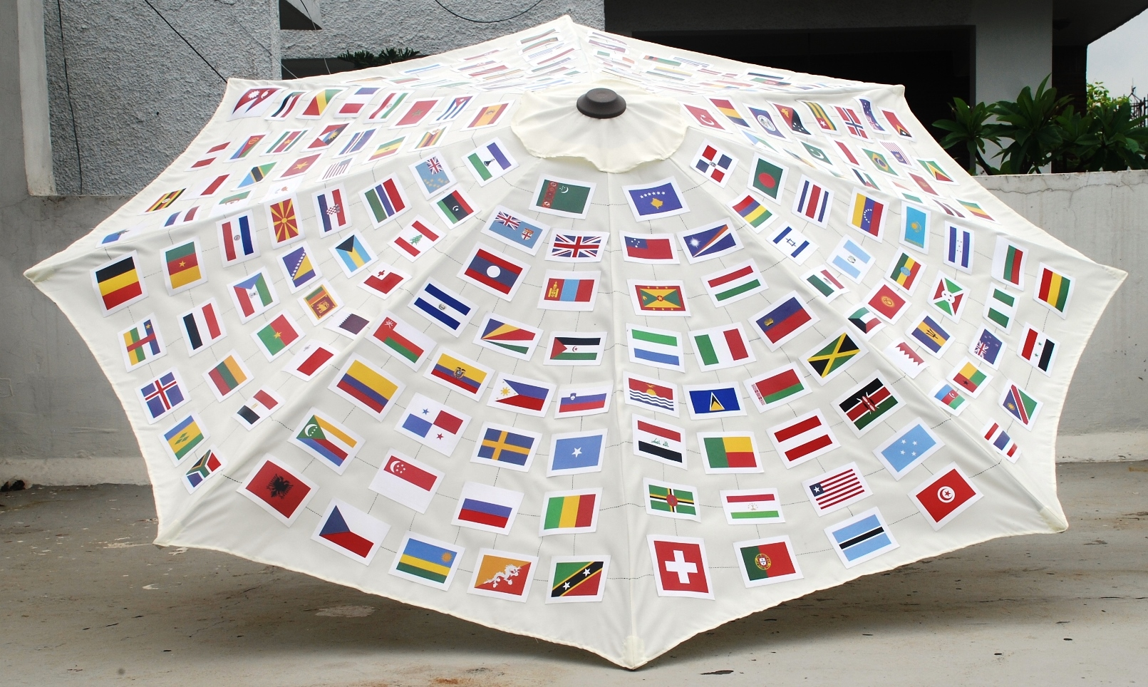 """Umbrella of Peace"" by Hemavathy Guha is featured in the third Jerusalem Biennale. Photo: courtesy ISRAEL21c"