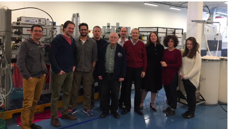 The Argaman Technologies team in its Jerusalem factory. CEO Jeff Gabbay is fourth from right. Photo: courtesy