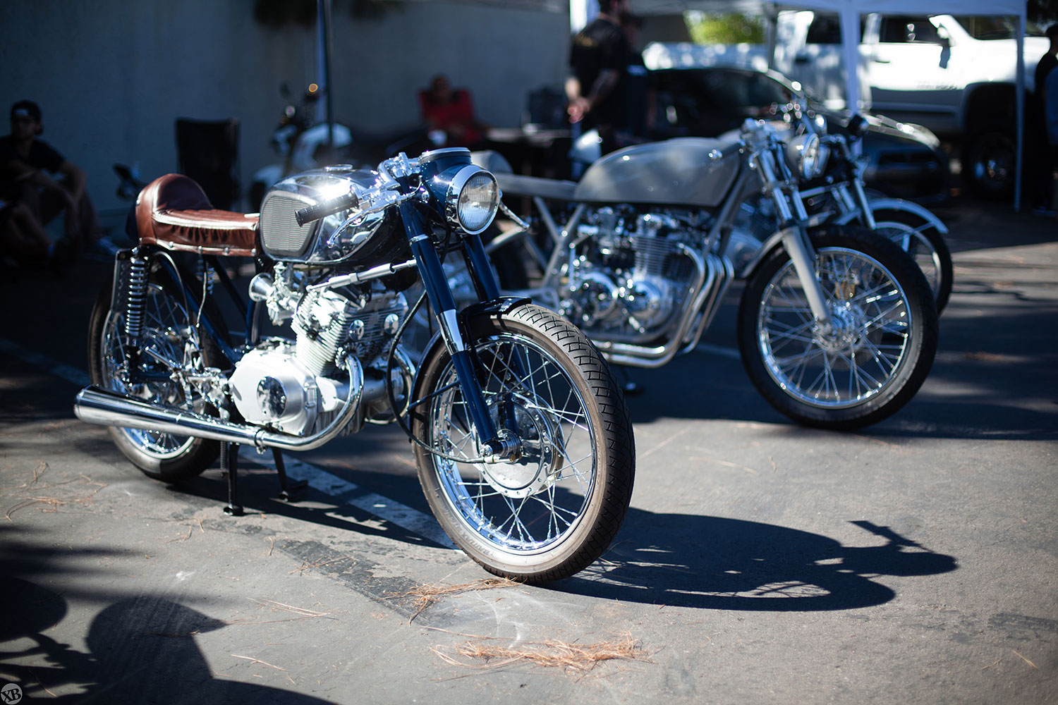 Alchemy Motorcycles had a great showing of their custom bike builds.