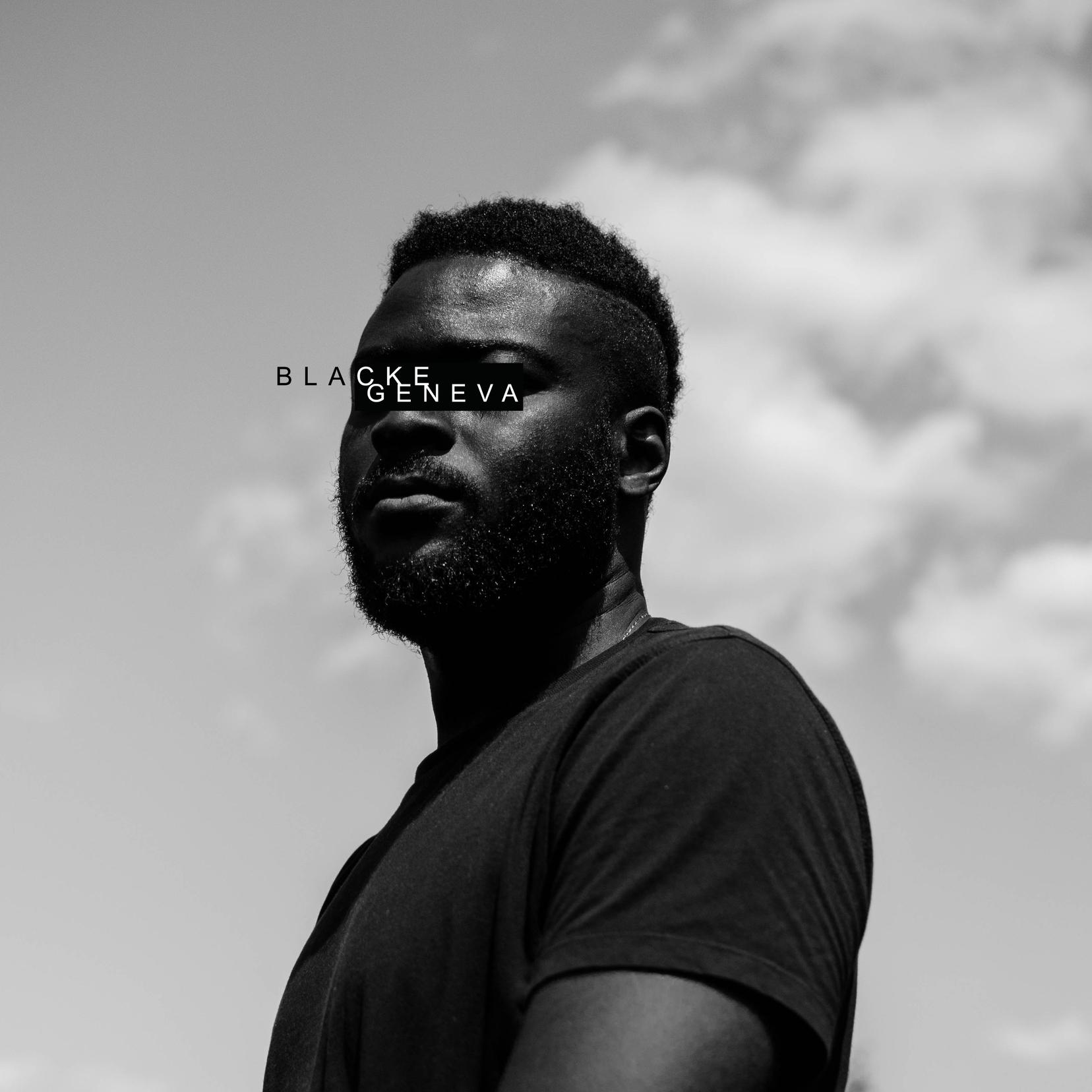 Blacke Geneva test album cover black&white close up