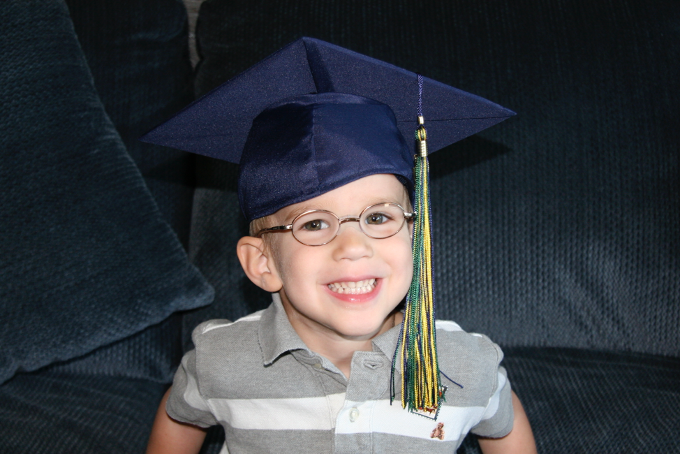 Talmage's graduation day from speech therapy