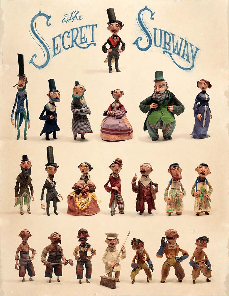 Poster of Characters <br> The Secret Subway