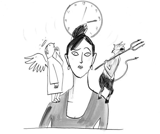 The Art of Procrastination - Angel/Devil <br> Workman Publishing