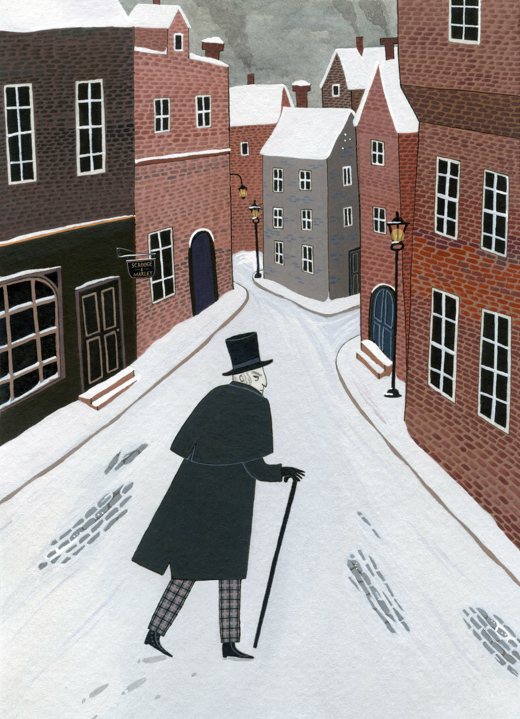 Scrooge Walking the City <br> Chronicle Books