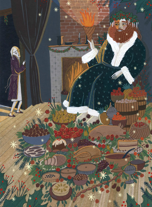 Scrooge and the Ghost of Christmas Present <br> Chronicle Books
