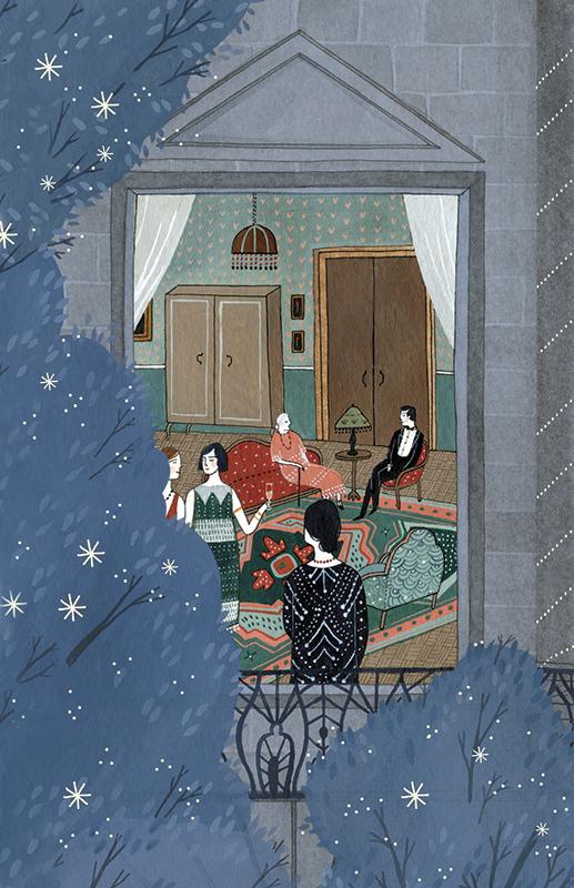 Mrs. Dalloway's Party (back cover) <br> Random House Mondadori (Spain)