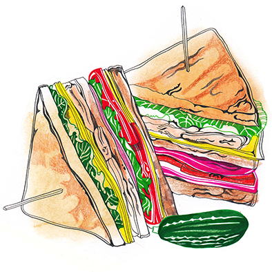 Club Sandwich - The Lunch Box <br> The Guardian