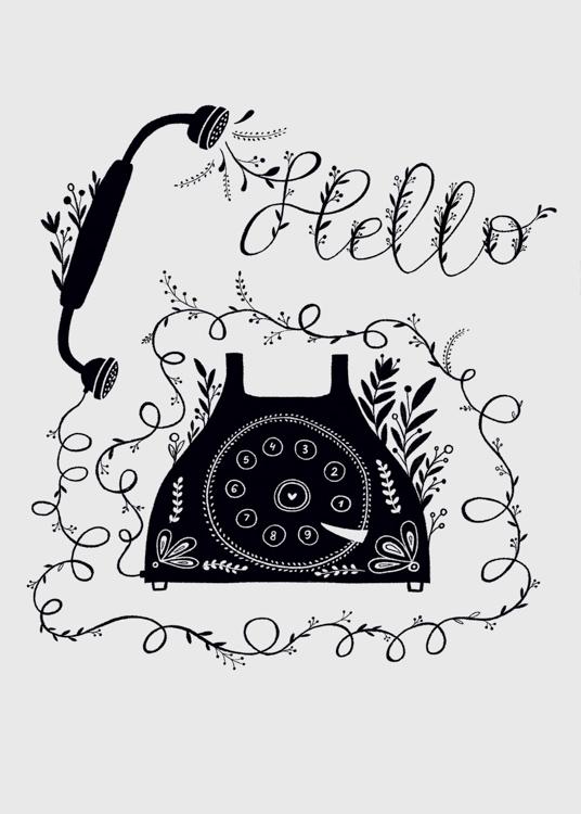 Hello telephone - card <Br> Design Design