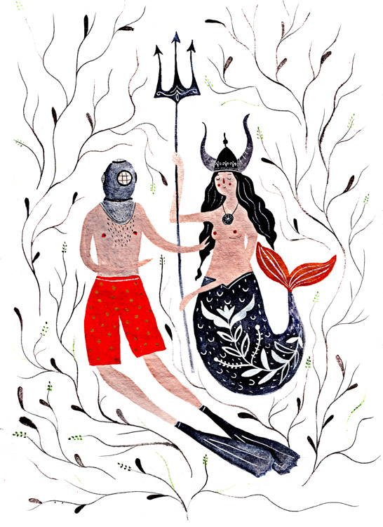 Diver Meets a Mermaid <br> Personal Work
