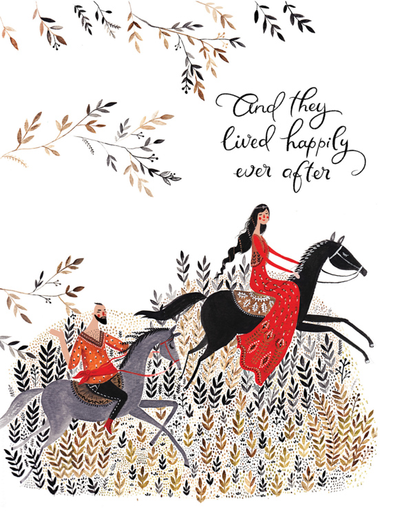 Happily Ever After fairytale - card <br> Red Cap Cards