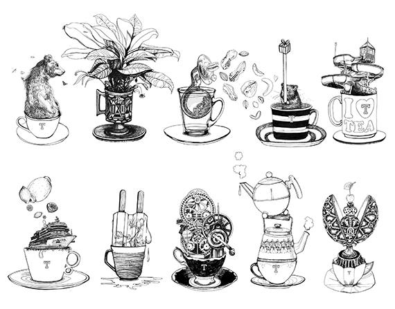 Parade of Teacups <br> Teastreet