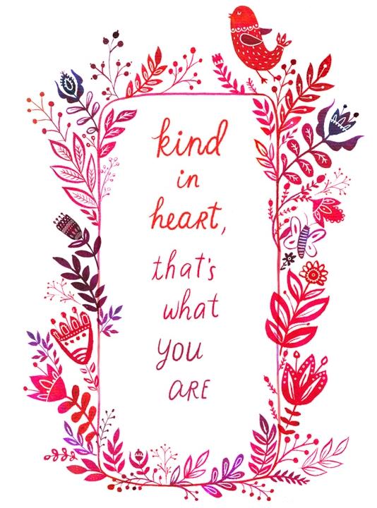 Kind in Heart - tea towel, mug, coaster <br> Demdaco