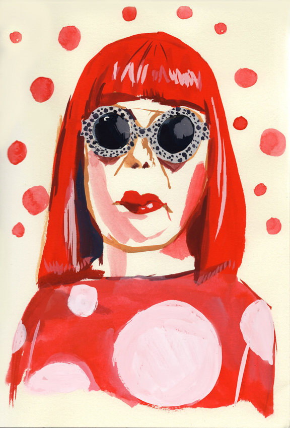 """Yayoi Kusama"" / Artist: Jenny Kroik / Uncommissioned Single Image"