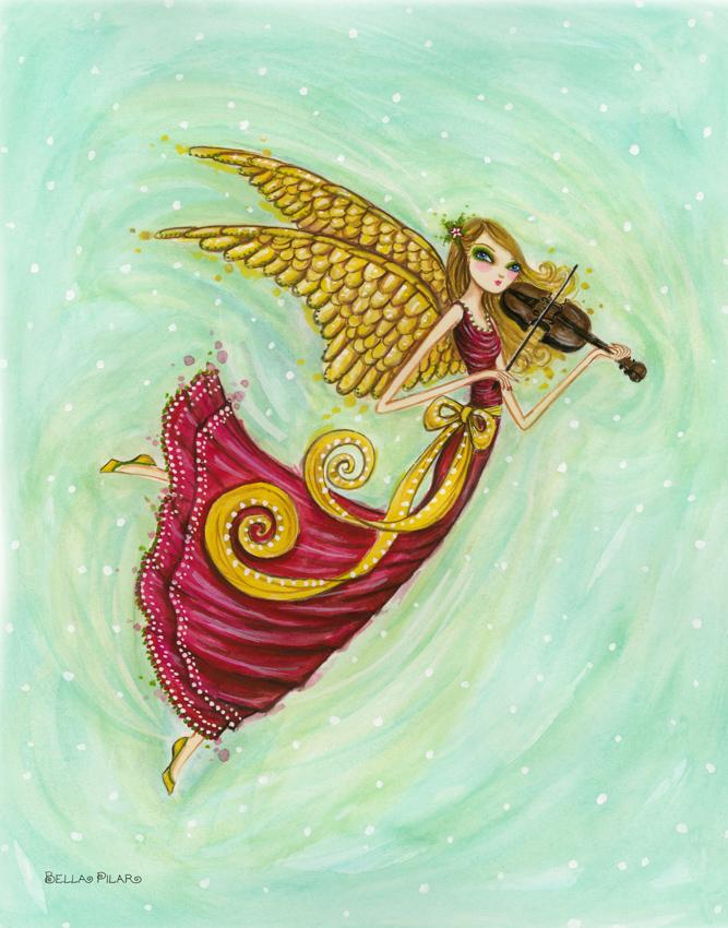 Papyrus - Angel with Violin <br> Bella Pilar