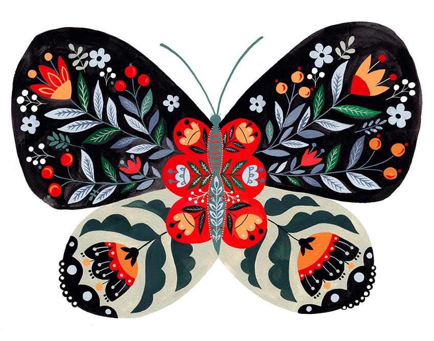 Folk Butterfly