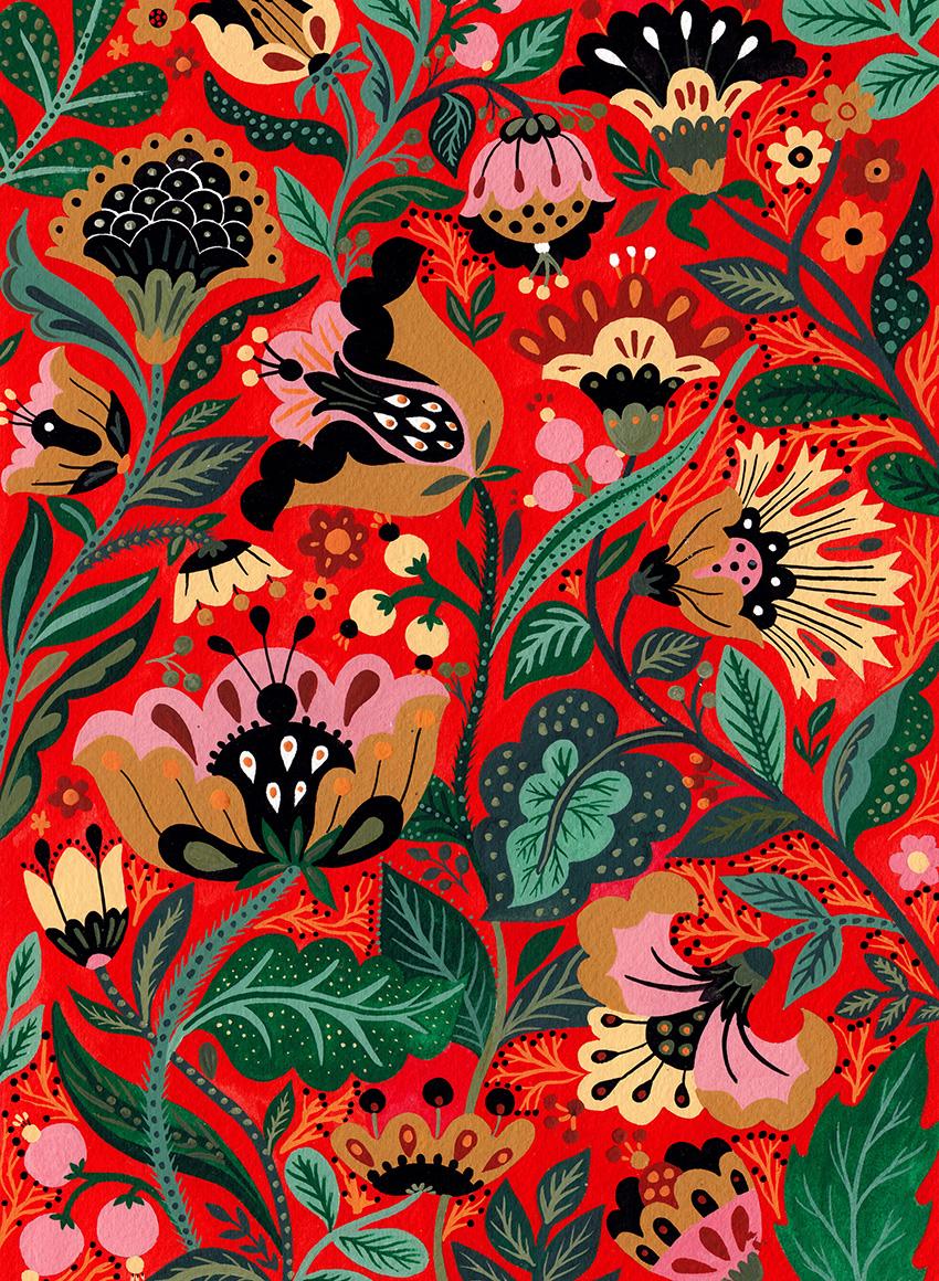 Red Flower Motives