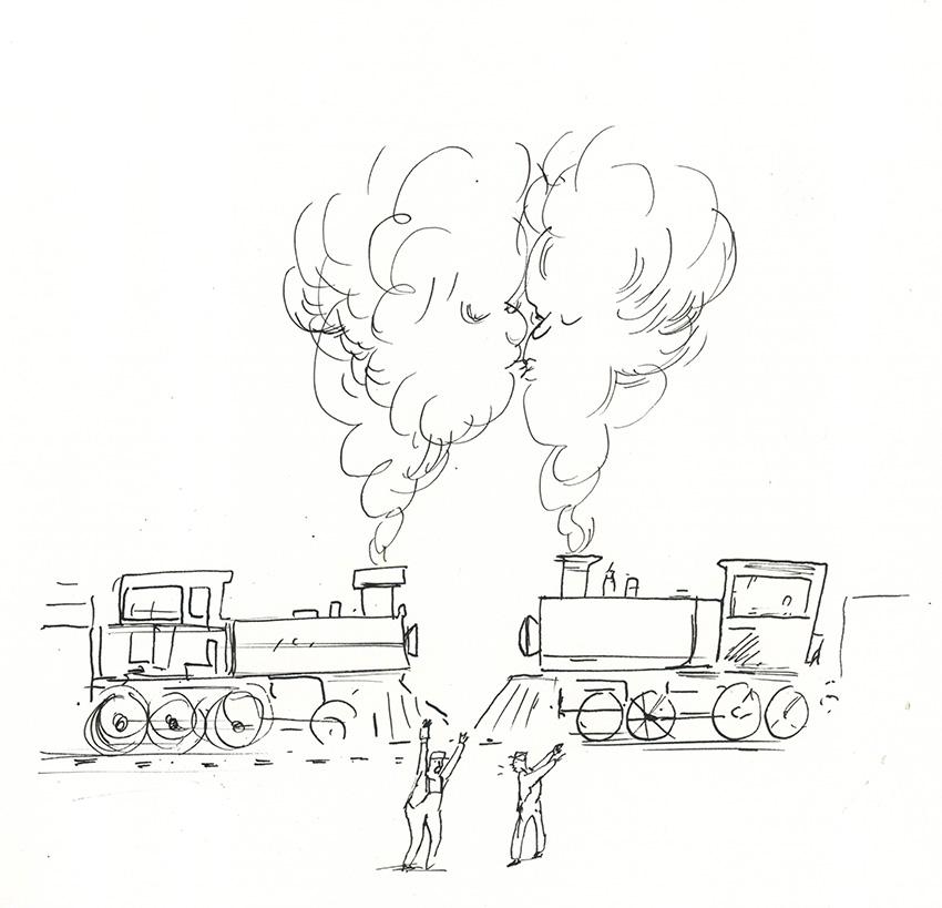 Kissing Trains