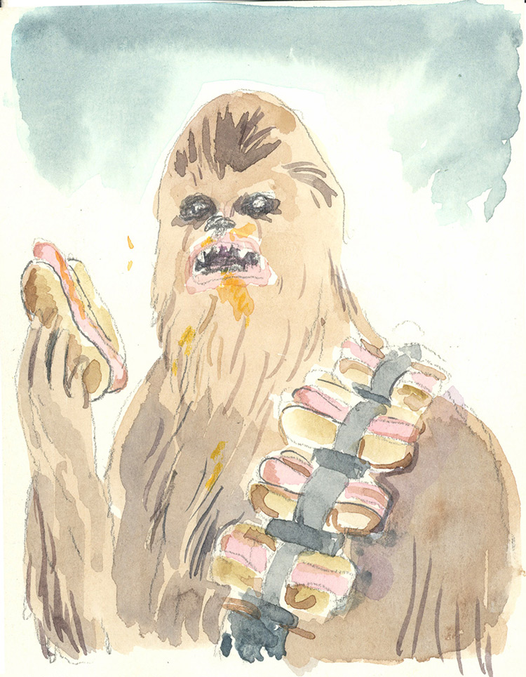 Hot Dog Chewbacca – Graham Roumieu