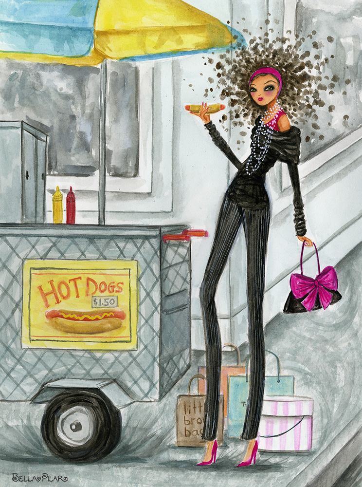 Shopping and a Hot Dog - Bella Pilar