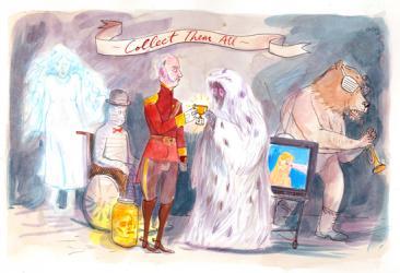NMA 2010 - ARTIST: Graham RoumieuTITLE: Extraordinary CanadiansCLIENT: The Walrus