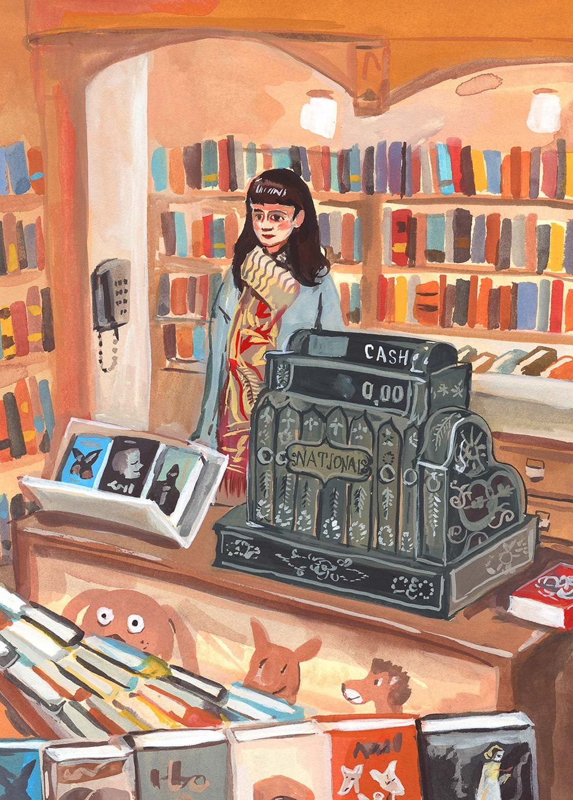 CA 60 2019, SOI 61 2018 - ARTIST: Jenny KroikTITLE: Corner Bookstore [Series, 2 of 7]