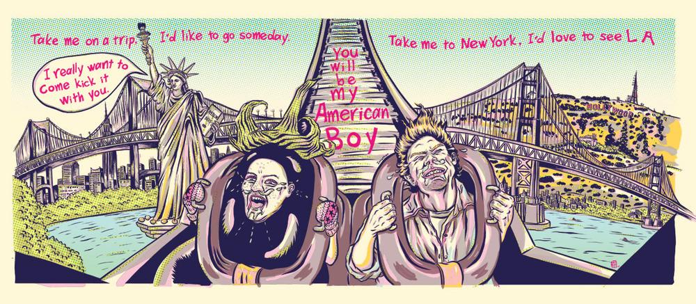 ADC 90 2011 Gold, SOILA 48 Silver, Print 2011, SOI 53 2011, AI 30 2011, CQ 22 - ARTIST: Jungyeon RohTITLE: Miss Eggplant's American Boys [8 of 15]