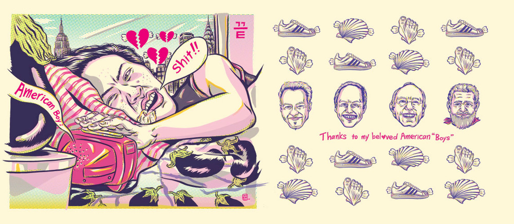 ADC 90 2011 Gold, SOILA 48 Silver, Print 2011, SOI 53 2011, AI 30 2011, CQ 22 - ARTIST: Jungyeon RohTITLE: Miss Eggplant's American Boys[15 of 15]
