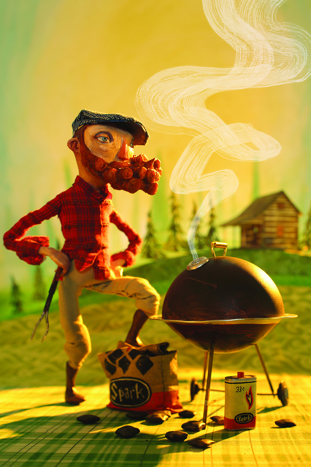SOI 58 2015 - ARTIST: Red Nose StudioTITLE: Dude GrillingCLIENT: Angie's List