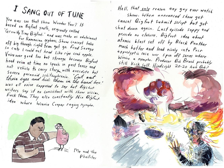 Coupe Magazine Design Awards 2006 - ARTIST: Graham RoumieuTITLE: Me Write Book: It Bigfoot Memoir [6 of 6]CLIENT: Plume Book