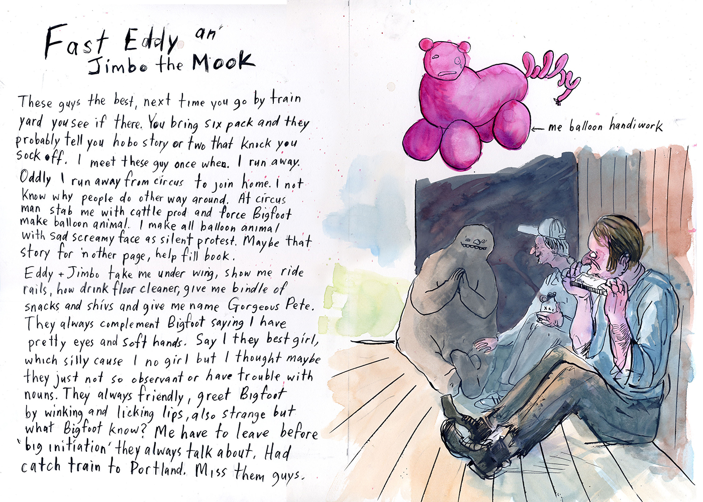 Coupe Magazine Design Awards 2006 - ARTIST: Graham RoumieuTITLE: Me Write Book: It Bigfoot Memoir [3 of 6]CLIENT: Plume Book